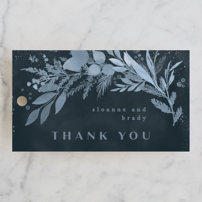 """""""Wonderful Tonight"""" - Wedding Favor Tags in Neptune by Creo Study."""