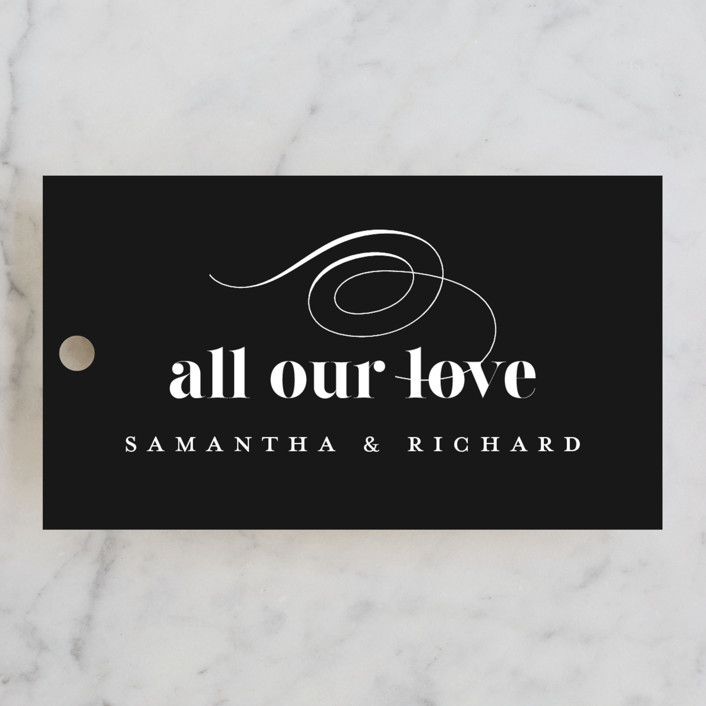 """""""whimsical ampersand"""" - Wedding Favor Tags in Black Tie by Laura Hamm."""