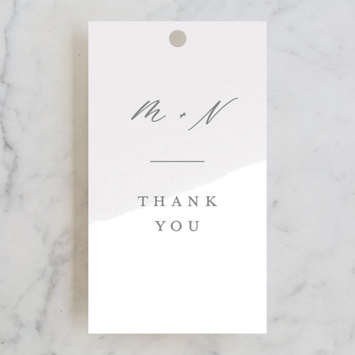 """""""Loving"""" - Wedding Favor Tags in Cloudy by Paper Raven Co.."""