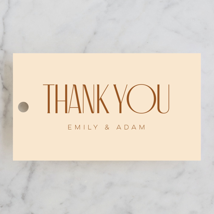 """""""Classic Touch"""" - Wedding Favor Tags in Rust by April Astudillo."""