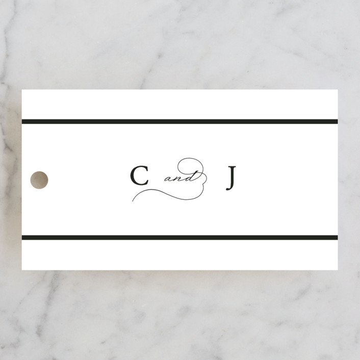 """""""Together With You"""" - Wedding Favor Tags in Noir by Kimberly FitzSimons."""