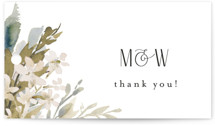 This is a white wedding favor tag by Chris Griffith called Wedding Festive with standard printing on signature in tag.