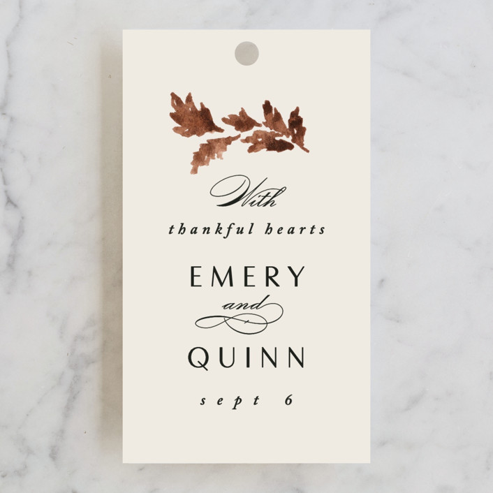 """""""poetique"""" - Wedding Favor Tags in Autumn by Kate Ahn."""