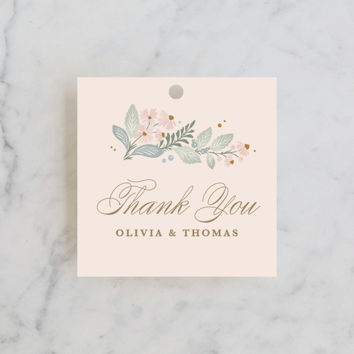 """""""Wild Flora"""" - Wedding Favor Tags in Blossom by Kristen Smith."""