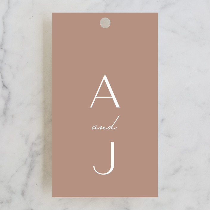 """Eternal Love"" - Wedding Favor Tags in Rose Dust by Bliss Design Studio."