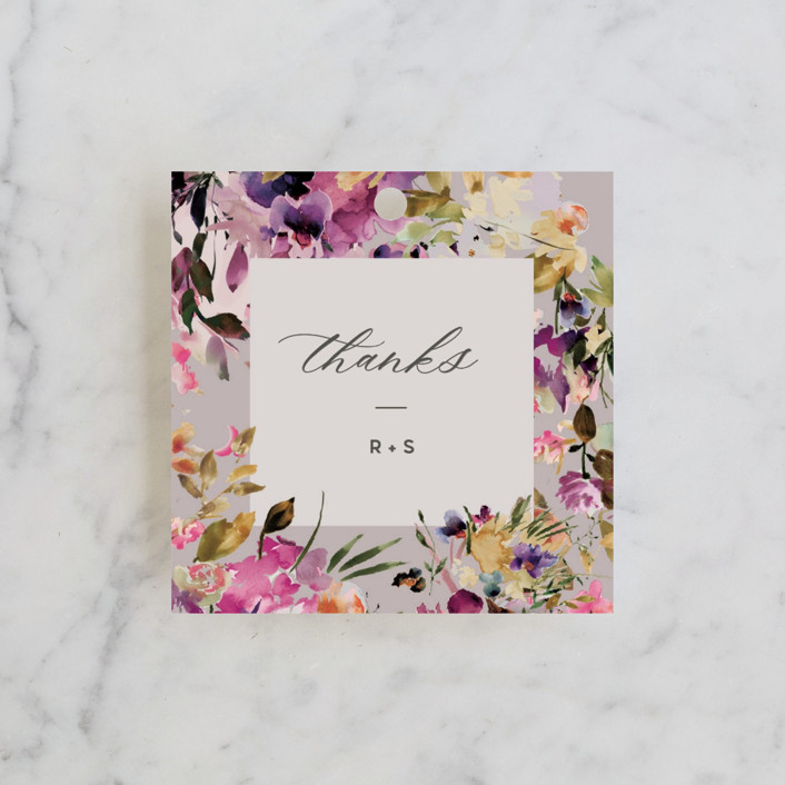 """""""beauti"""" - Wedding Favor Tags in Violet by Lori Wemple."""