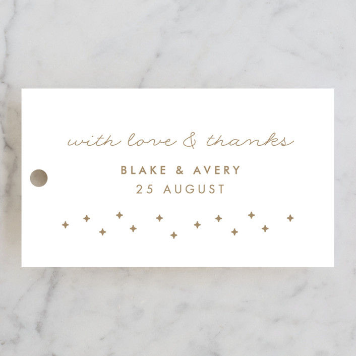 """""""Gilded Celebration"""" - Wedding Favor Tags in Frosted Gold by curiouszhi design."""