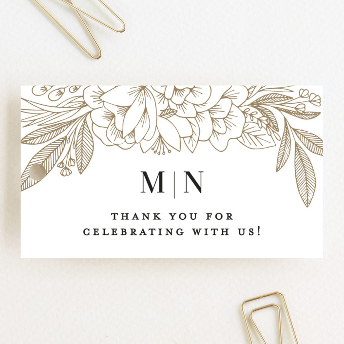 """Refined Bouquet"" - Wedding Favor Tags in Salt by Olivia Raufman."