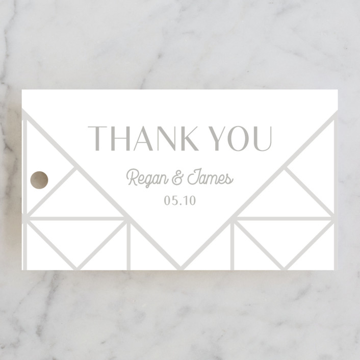 """""""Brilliant Cut"""" - Wedding Favor Tags in Diamond by Meggy Masters."""