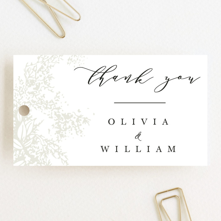 """Olivia"" - Wedding Favor Tags in Opal by Hannah Williams."