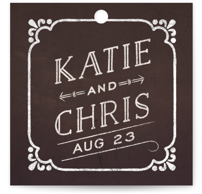 This is a square bold typographic, vintage, brown Wedding Favor Tags by GeekInk Design called Slated Forever with Standard printing on Signature in Tag Flat Card format. Add the perfect finishing touch to all of your wedding gifts with these ...