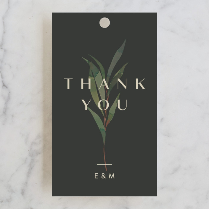 """""""Modern Leaves"""" - Wedding Favor Tags in Smoked by Four Wet Feet Studio."""