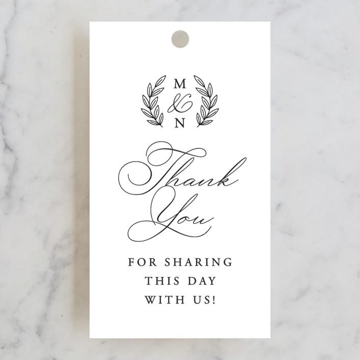 """Organza"" - Wedding Favor Tags in Linen by Jill Means."