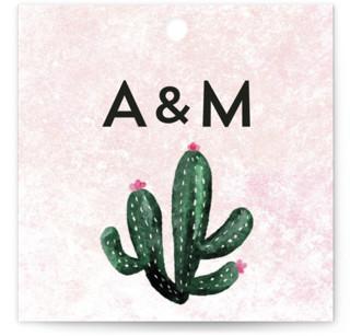 Cacti Wedding Favor Tags