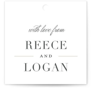Classical Wedding Favor Tags