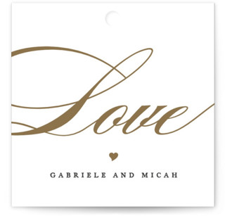 Flourish Wedding Favor Tags