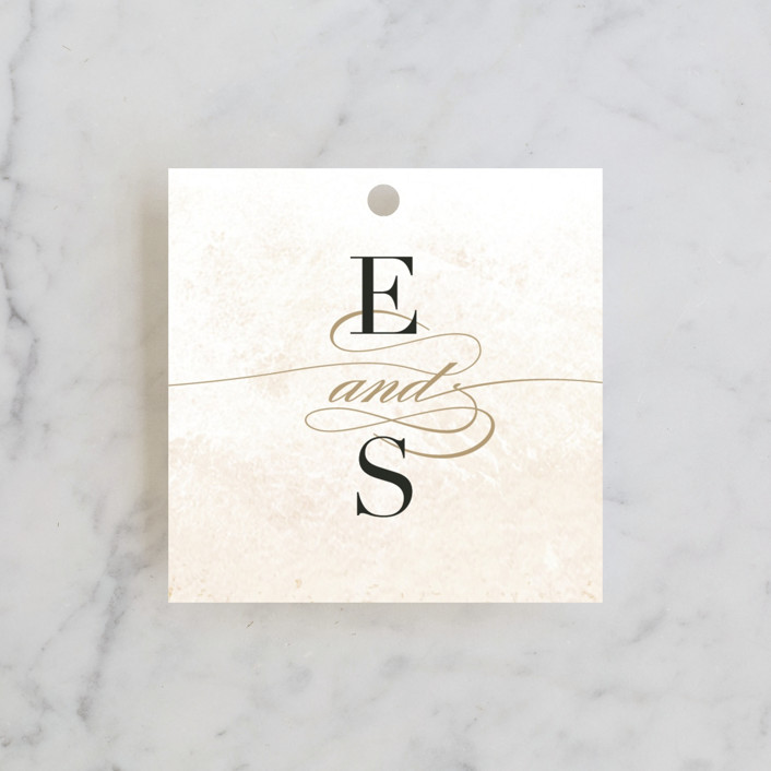 """Never ending"" - Wedding Favor Tags in Blush by Jennifer Wick."