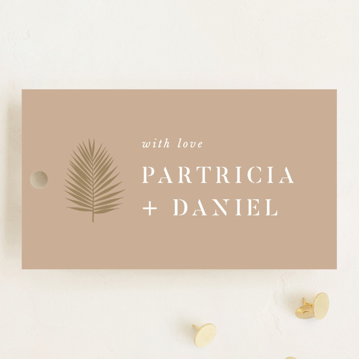 """""""Sunset by the Sea"""" - Wedding Favor Tags in Tan by lulu and isabelle."""