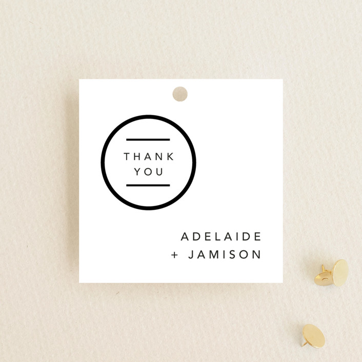 """""""Connected"""" - Modern Wedding Favor Tags in Tuxedo by Kelsey Mucci."""