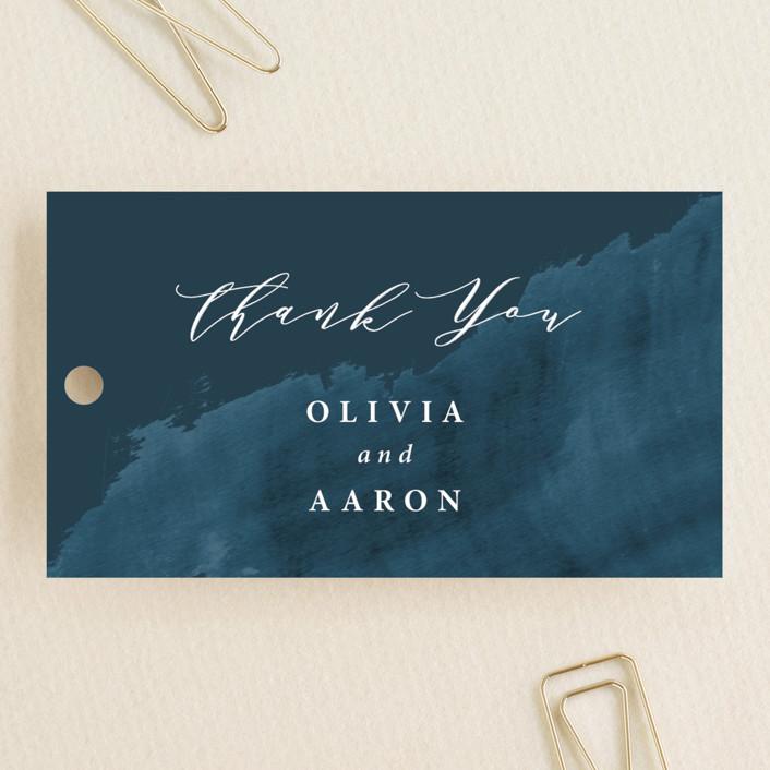"""Gilded Oceans"" - Wedding Favor Tags in Ocean by Christie Garcia."