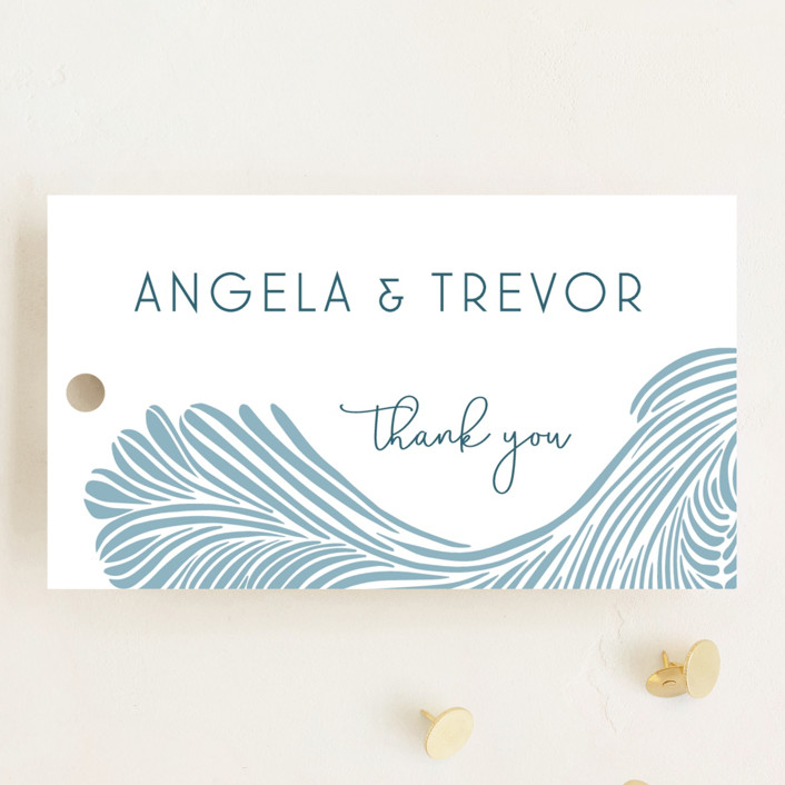 """Wailea Waves"" - Wedding Favor Tags in Pacific Blue by raven erebus."
