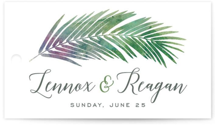 Tropical Foliage Wedding Favor Tags