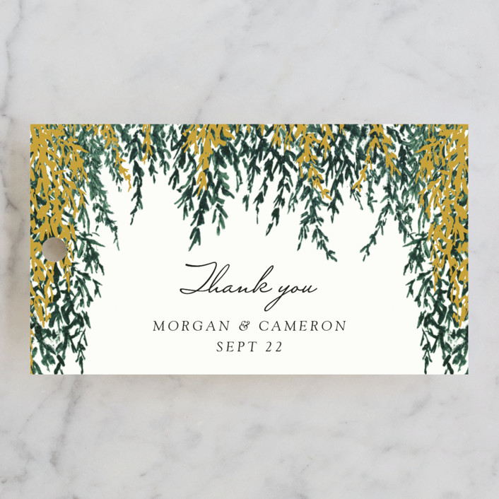 """""""In Love"""" - Wedding Favor Tags in Broccoli by Elly."""