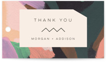 This is a colorful wedding favor tag by Moglea called Adagio with standard printing on signature in tag.
