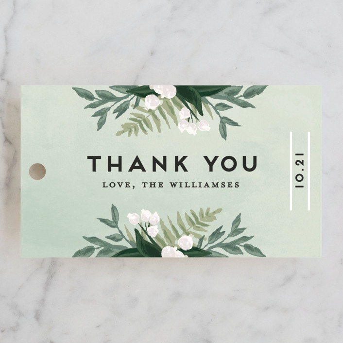 """""""Botanical Name Plate"""" - Floral & Botanical, Rustic Wedding Favor Tags in Sage by Shiny Penny Studio."""