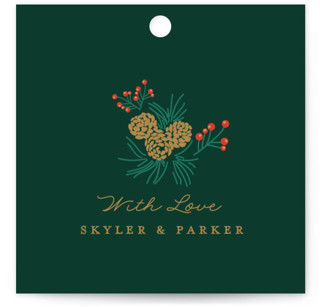 Holiday Wedding Wedding Favor Tags