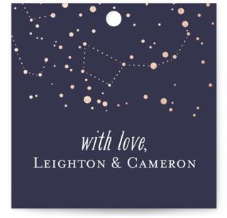 Starlight Wedding Favor Tags