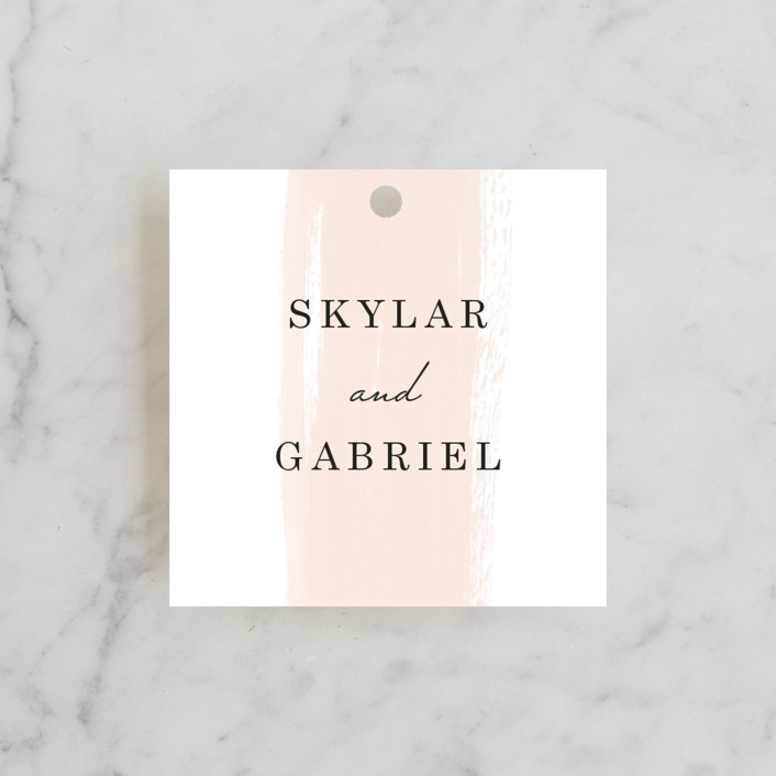 """Single Swath"" - Wedding Favor Tags in Blush by Angela Marzuki."