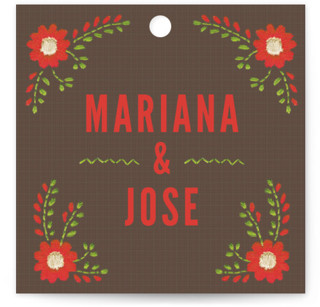 Mexican Ties Wedding Favor Tags