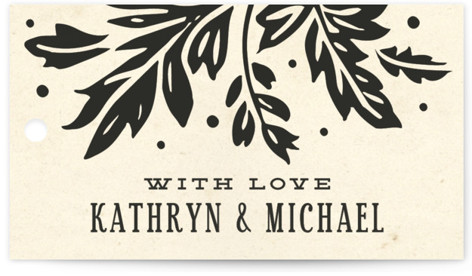 Inked Wedding Favor Tags