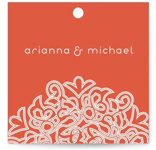 Love Blossoms Wedding Favor Tags