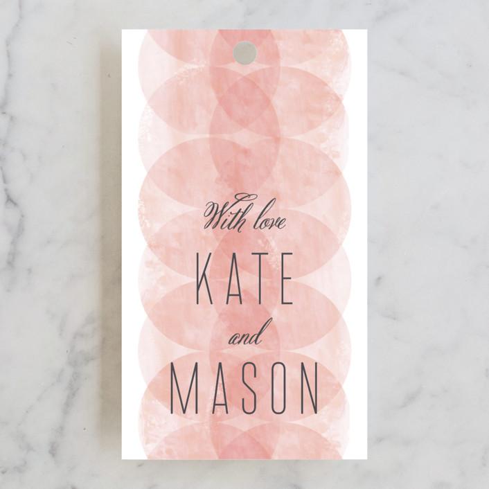 """""""Bliss"""" - Modern Wedding Favor Tags in Blush by Kristie Kern."""