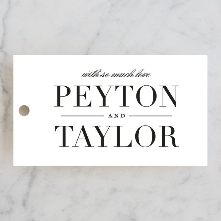 """""""Classic"""" - Wedding Favor Tags in Tuxedo by Lauren Chism."""