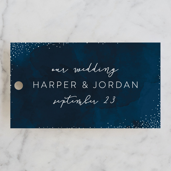 """""""tiny dots"""" - Wedding Favor Tags in Sapphire by Erin Deegan."""
