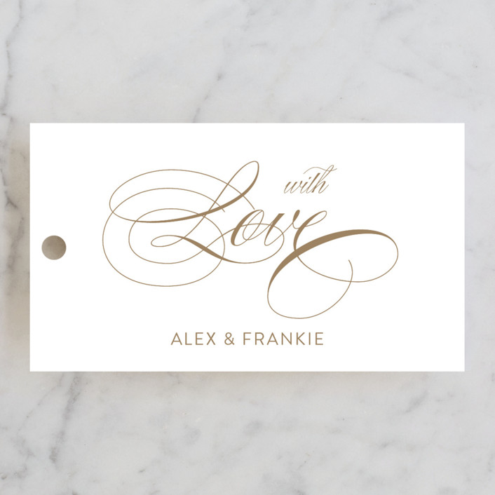 """""""Graceful and Grand"""" - Wedding Favor Tags in Antique Gold by Jennifer Postorino."""