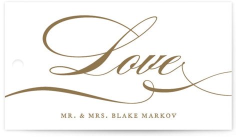 divine Wedding Favor Tags