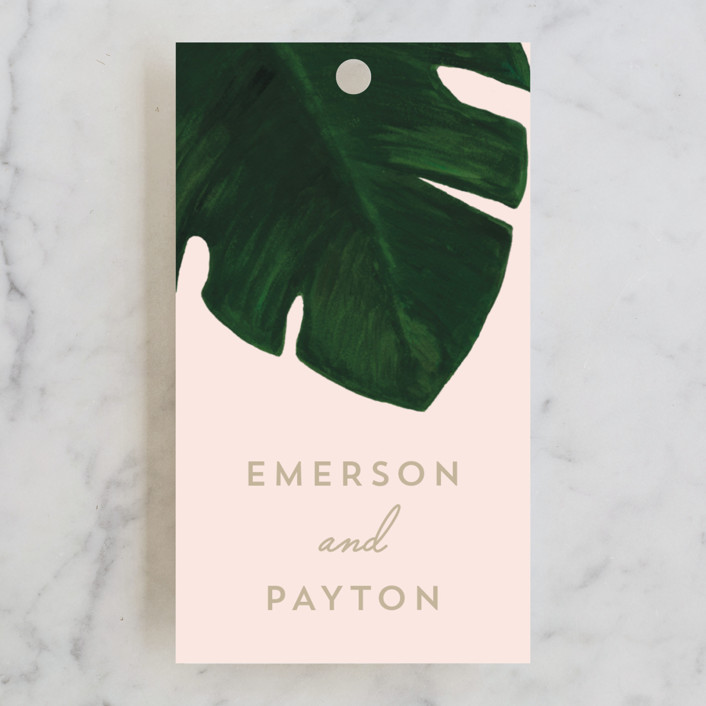 """""""Palm"""" - Wedding Favor Tags in Classic Palm by Kaydi Bishop."""