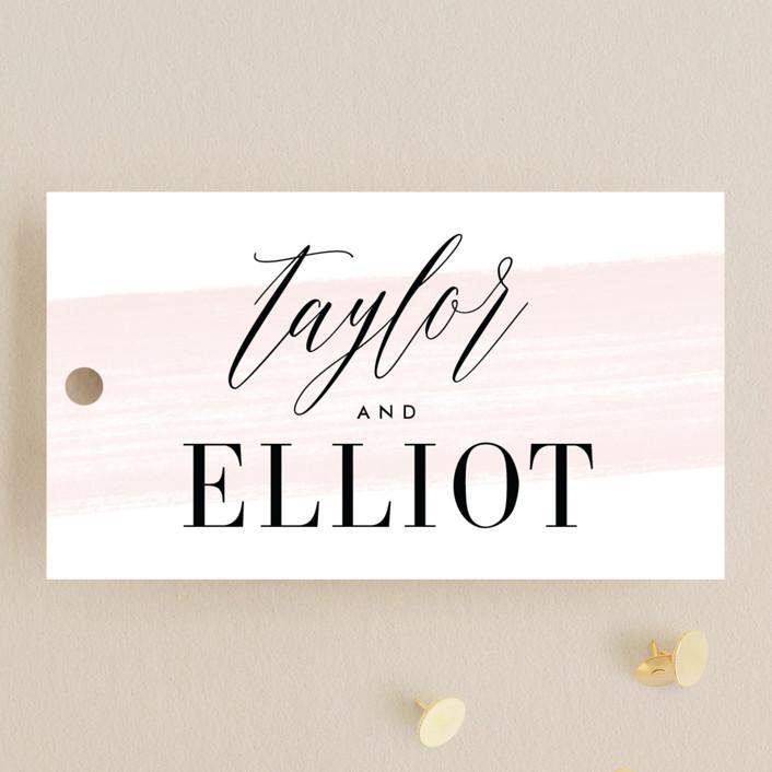 """Effervescent"" - Wedding Favor Tags in Blush by Kristie Kern."