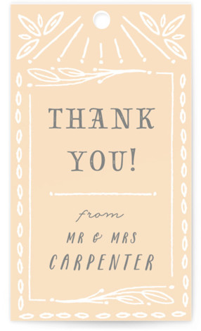 This is a beige, white, pink Wedding Favor Tags by Shiny Penny Studio called Ink Detailing Frame with Standard printing on Signature in Tag Flat Card format. Add the perfect finishing touch to all of your wedding gifts with these ...
