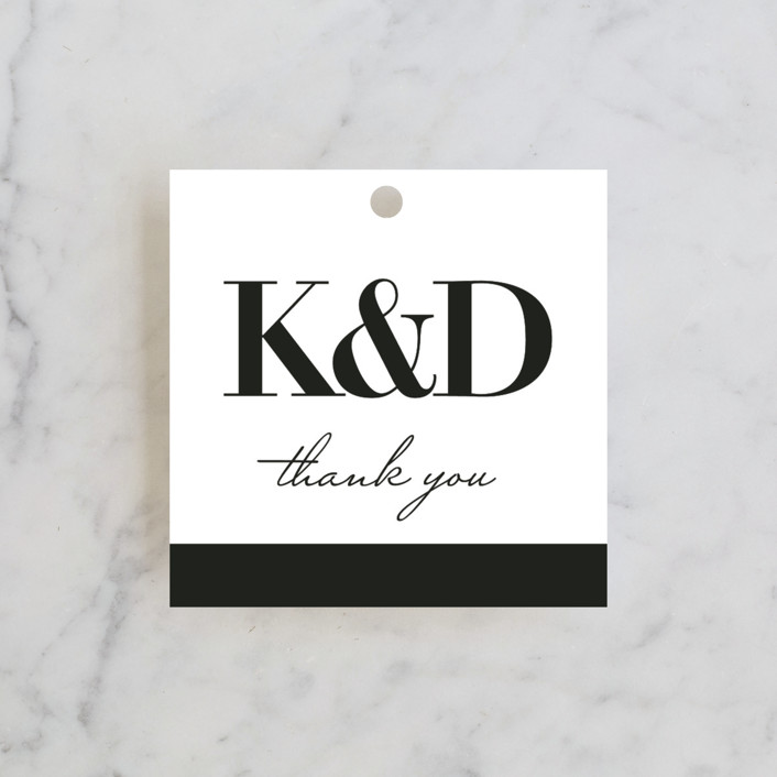 """The Minimalist"" - Wedding Favor Tags in Pearl by Kelly Schmidt."