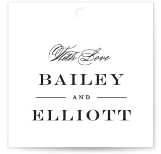 Downtown Wedding Favor Tags
