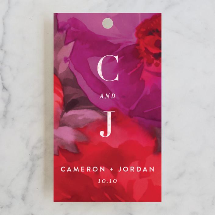 """Centifolia Rose"" - Wedding Favor Tags in Velvet by kelli hall."