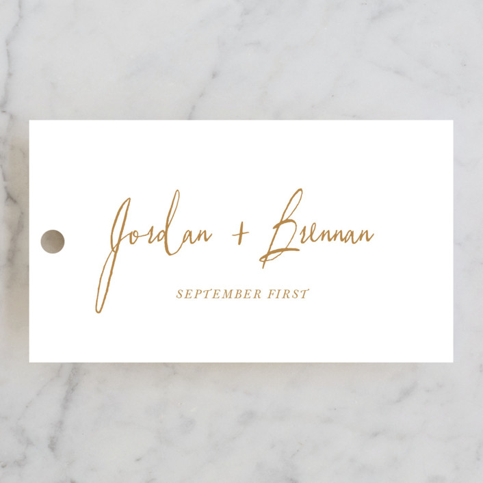 """""""Pastoral"""" - Wedding Favor Tags in Burlap by Up Up Creative."""