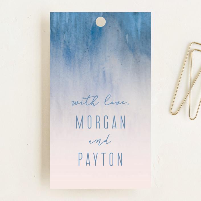 """Midsummer Night"" - Wedding Favor Tags in Ocean by Kaydi Bishop."