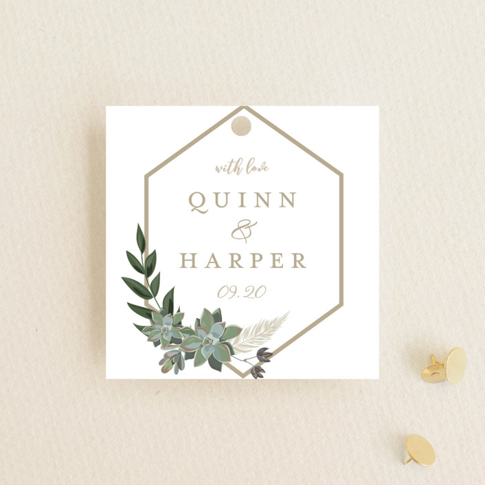 """""""Succulent Surround"""" - Wedding Favor Tags in Cloud by Susan Moyal."""