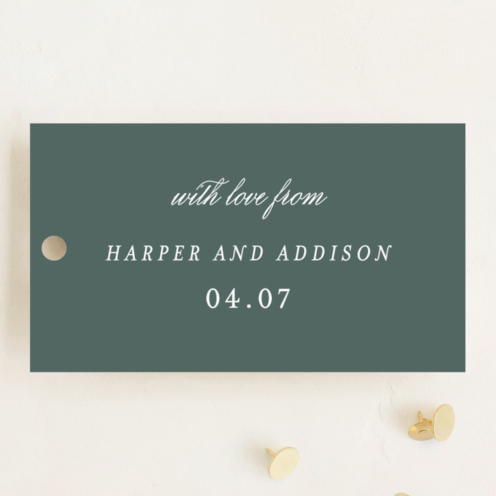 """""""Love is Love"""" - Wedding Favor Tags in Spruce by Sara Hicks Malone."""